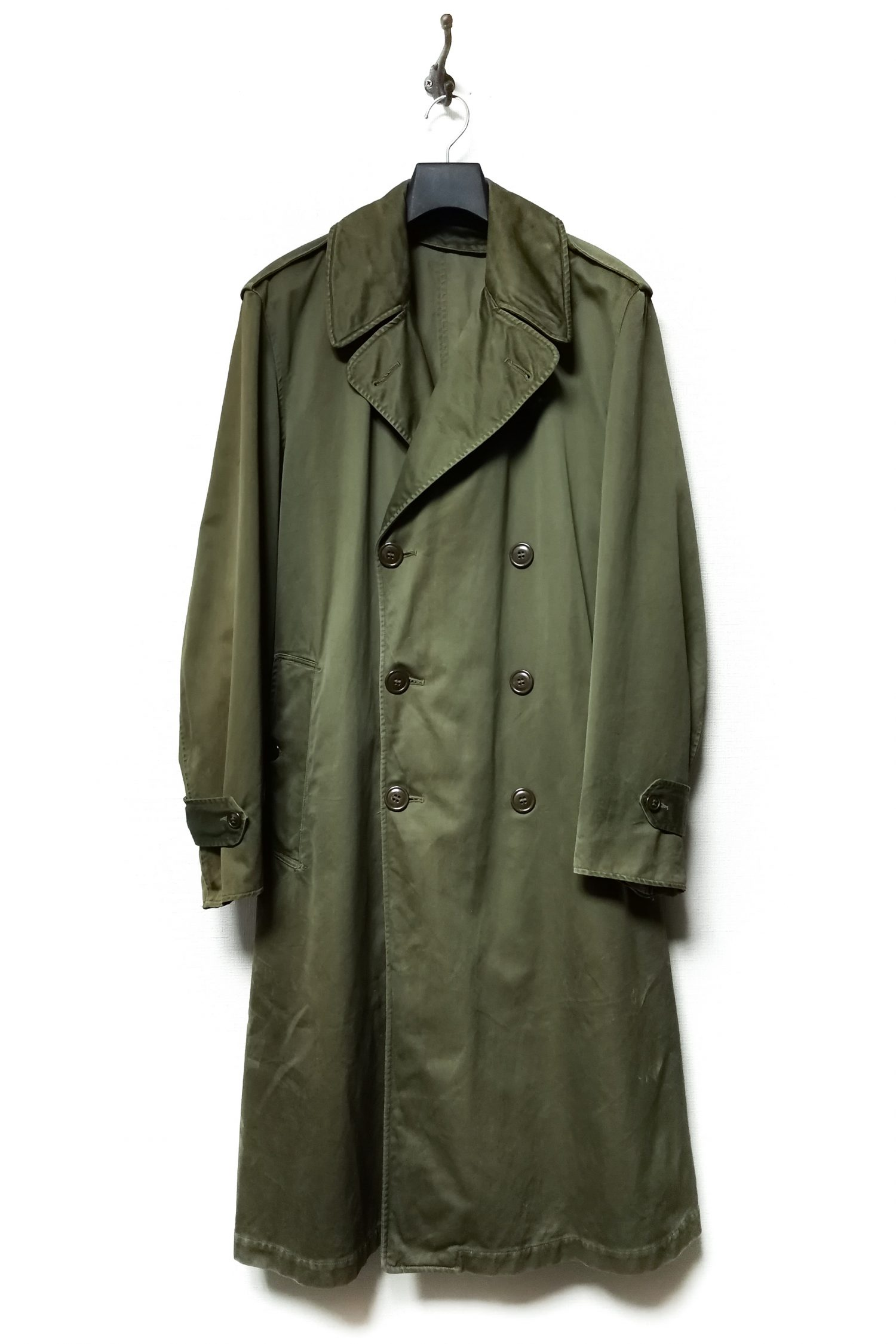 50's Vintage Military Trench Coat_REGULAR-MEDIUM-10