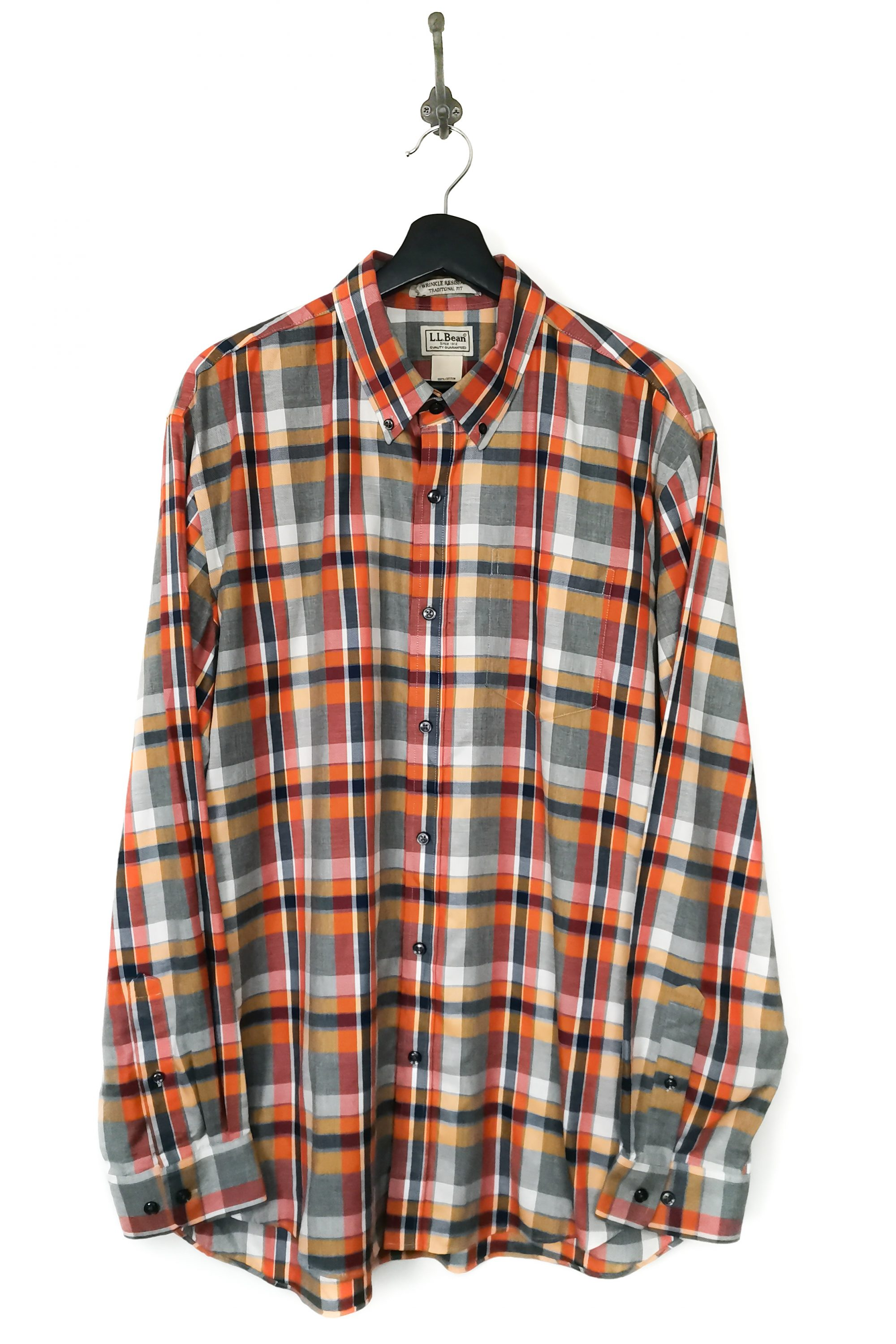 L.L Bean USED Over-Sized Check Shirt-8